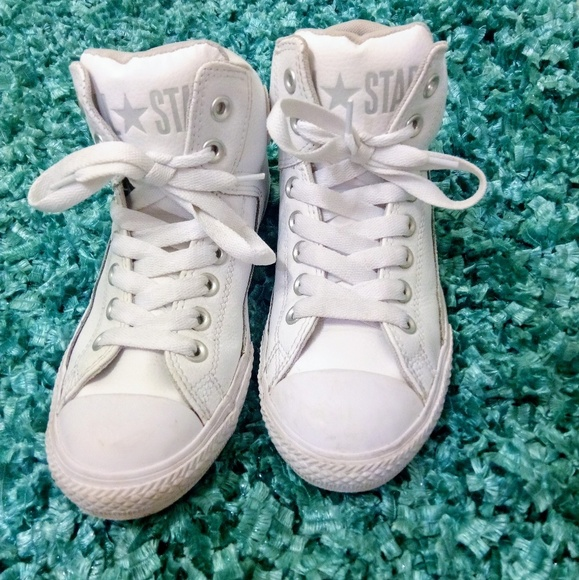 Converse Other - Chuck Taylor All Star Converse Leather High Tops f593c5e75